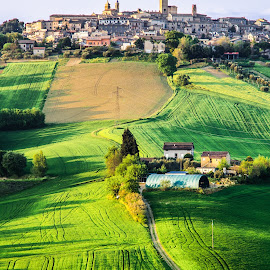 Green Hills by Emanuele Zallocco - Landscapes Travel ( hills, medievale, borgo, green, marche, italy )