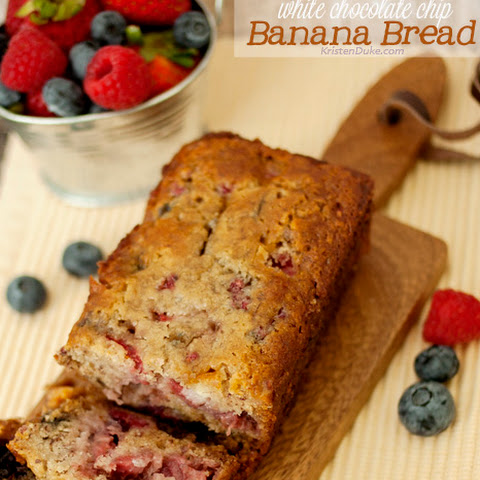 Triple Berry White Chocolate Chip Banana Bread