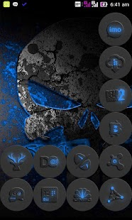 Blue-In-Black - icon pack - screenshot