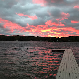Red Sky at Night by Stephanie Parmley Givens - Landscapes Sunsets & Sunrises