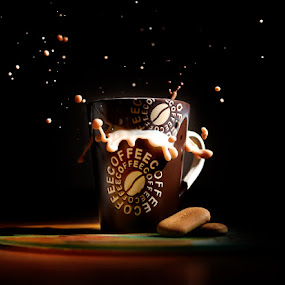 Coffee and cookies by Ivan Vukelic - Food & Drink Ingredients ( splash, vukelic, ivo, milk, coffee, vuk, cookies )