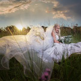 Sunset Bride by Lood Goosen (LWG Photo) - Wedding Bride ( wedding photography, wedding photographers, brides, wedding dress, bridal, sunset, dress, wedding, weddings, wedding day, brideal session, wedding photographer, bride )