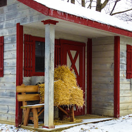 Winter Shed by Brendan Simpson - Buildings & Architecture Other Exteriors ( farm, shed, winter, nature, ice, outdoors, snow, buildings, architecture )
