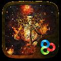 Fire Skull 3D Go Launcher Theme APK for Bluestacks