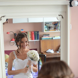 Mirror by Sasa Rajic Wedding Photography - Wedding Bride ( wedding photography, wedding day, wedding, wedding dress, wedding photographer, bride, sasa rajic )