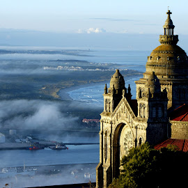Viana do Castelo  by Ni Francisco - Landscapes Travel ( dawn, church, fog, serenity, sante luzia, portugal, photography, viana do castelo,  )