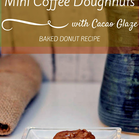 Baked Mini Coffee Doughnuts