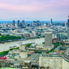 London Skyline   by Prasanta Das - City,  Street & Park  Historic Districts ( skylinee, architecture, river bank )