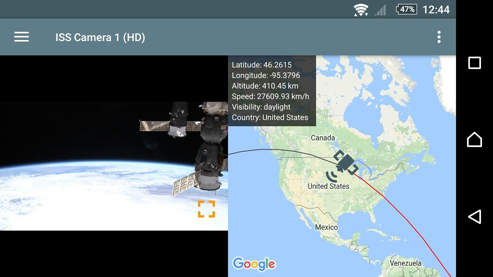 ISS Live - HD Earth viewing and NASA library Screenshot 6