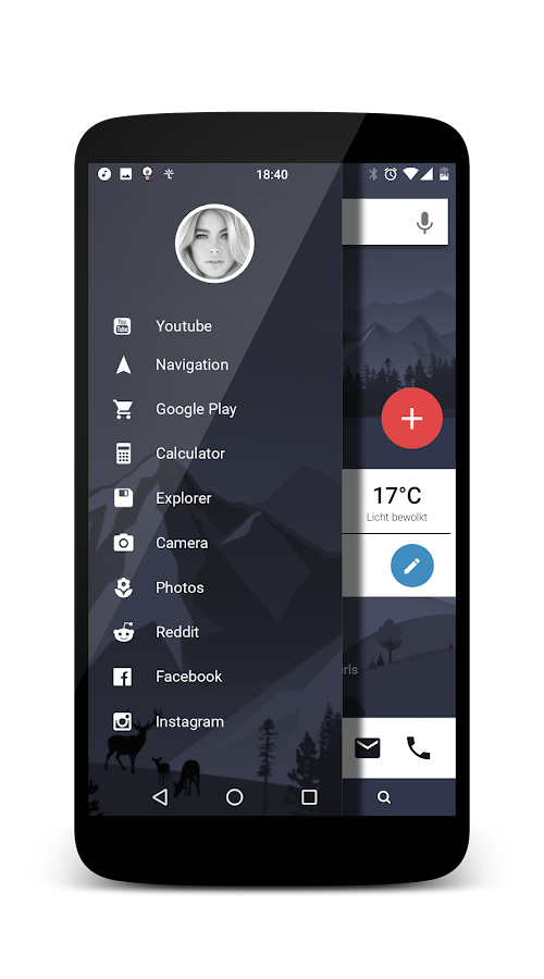 Material Look KLWP Screenshot 2