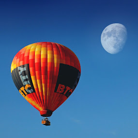 Skybus: Fly Me To The Moon by Brut Carniollus - Transportation Other ( hot air, baloon, moon, representing, beautiful, special, beauty, world, , Free, Freedom, Inspire, Inspiring, Inspirational, Places, People, Emotion, air, transport )