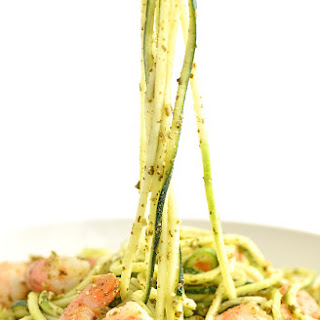 Shrimp and Pesto Zoodles