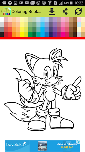 Coloring For Sonic Game For PC
