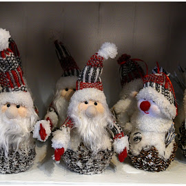 Santas  by Lorraine D.  Heaney - Public Holidays Christmas