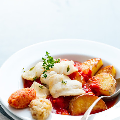 Saffron-infused Bouillabaisse with Breadcrumb Rouille