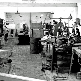 The Workshop 2 by Roger Booton - Buildings & Architecture Other Interior ( workshop, tools, drills, spanners, nostalgic;woorkbench )