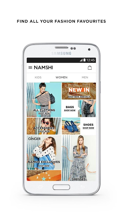 Namshi Online Fashion Shopping Screenshot