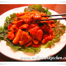 Marinated Chicken Stir Fry with Gochujang sauce (Dak Galbi)