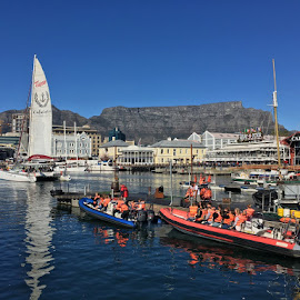 Joyride by Lian van den Heever - Transportation Boats ( cape, harbour, boats, south, town, africa )