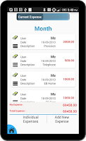 Screenshot of Expense Manager & Divider