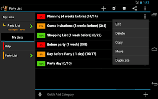 Screenshot of Party Planner