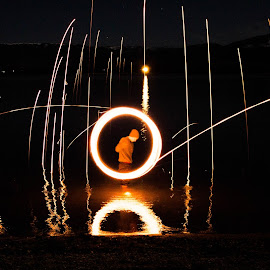rising stars by Andrew Jouffray - Abstract Light Painting