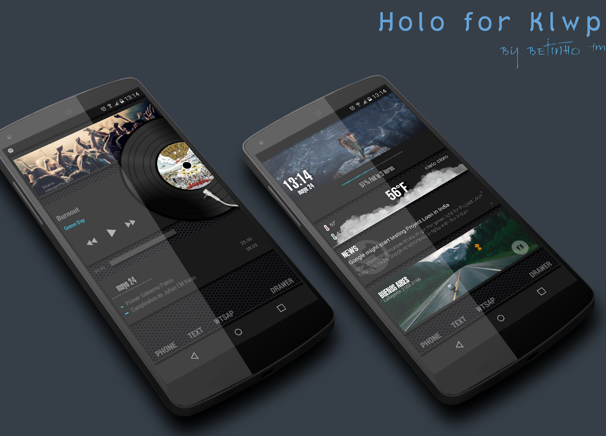 Holo for Kustom Screenshot 5