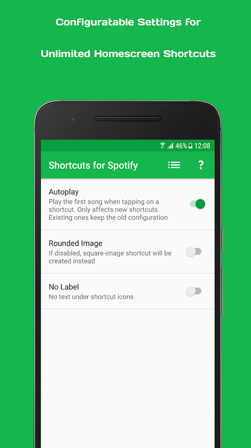 Playlist Shortcuts for Spotify Screenshot 1
