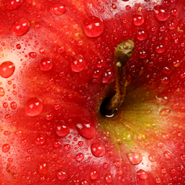 Apple Upclose by Dipali S - Food & Drink Fruits & Vegetables ( fruit, diet, bright, texture, refreshment, agriculture, delicious, nutrition, red, fresh, color, apple, food, healthy, freshness, vegetarian, group, shiny )