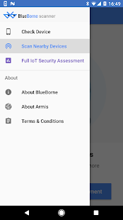 BlueBorne Vulnerability Scanner by Armis Screenshot