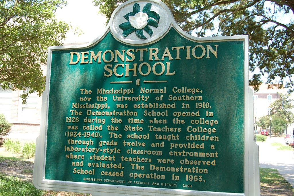The Mississippi Normal College, now the University of Southern Mississippi, was established in 1910. The Demonstration School opened in 1926 during the time when the college was called the State ...