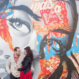The Way You Look At Me by Yansen Setiawan - Wedding Other ( grafitti, urban, lovers, wedding, lovebirds, couple )