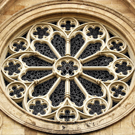 Rose Window, Guelph, Ontario, Canada by Carl VanderWouden - Buildings & Architecture Architectural Detail