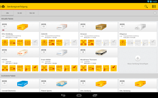 Screenshot of DHL Paket