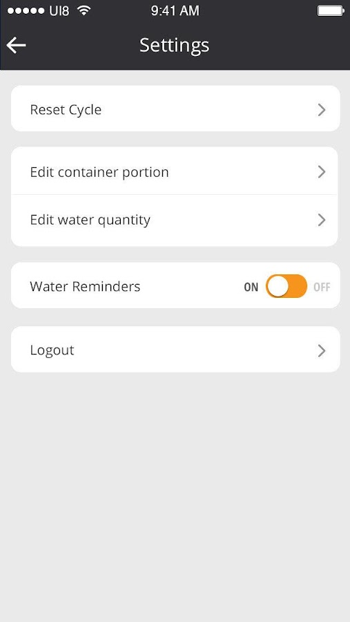 Meals'N'Water Tracker Screenshot 5