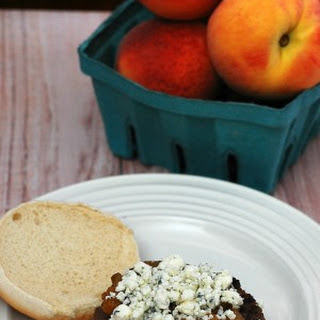 Balsamic Burgers with Bourbon Peach BBQ Sauce #WeekdaySupper