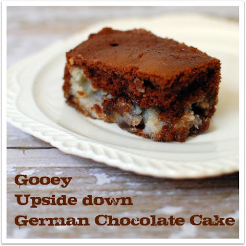 Upside Down German Chocolate Cake!