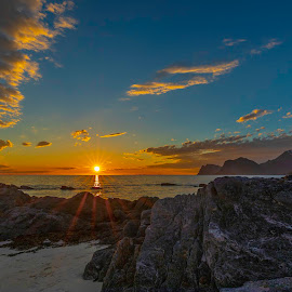 Sunset by Jonas Bohlin - Landscapes Sunsets & Sunrises ( #lofotenisland, #sunset )