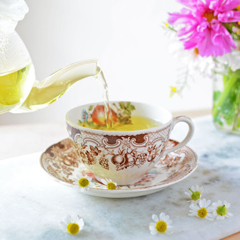 Chamomile Tea with Fresh Flowers