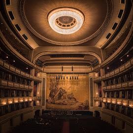 Wiener Staatsoper by Ole Steffensen - Buildings & Architecture Other Interior ( interior, wien, wiener staatsoper, vienna, seats, opera, stage, austria )