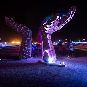 No Applause by George Krieger - News & Events Entertainment ( burning man, hands, art, burningman )