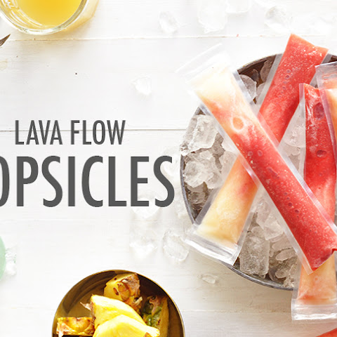 Lava Flow Popsicles