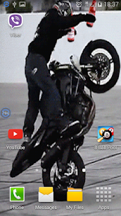 Superbike Trick Live Wallpaper - screenshot