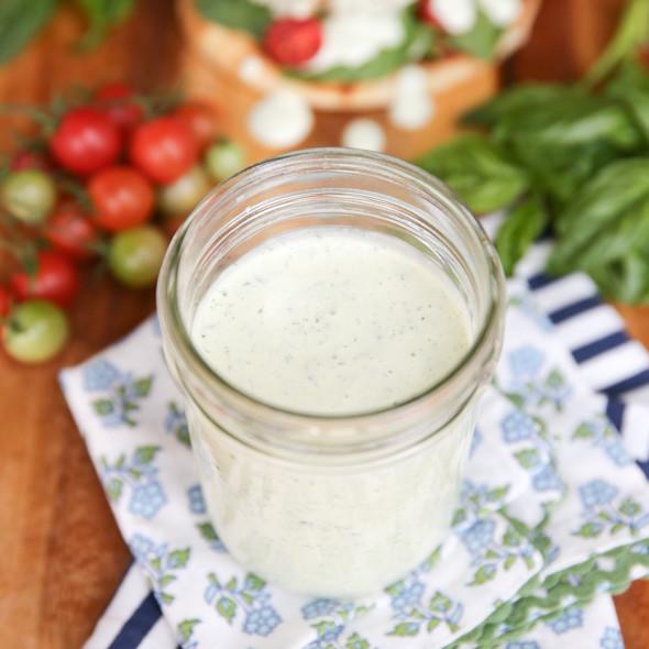 Creamy Basil Buttermilk Ranch Dressing Recipe | Yummly
