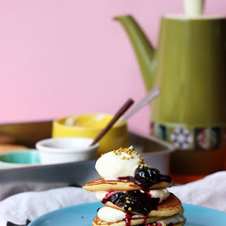 Cornmeal Pikelets with Jam & Cream