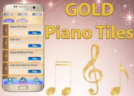Gold Piano Tiles 2 APK for Bluestacks