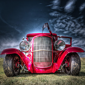 Red Hot Rod by Ron Meyers - Transportation Automobiles