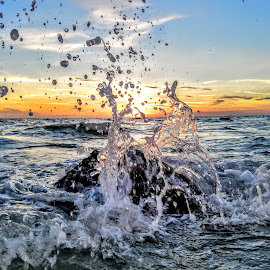 Sunset from within 90 degree water along the gulf  by Jeffrey Lee - Landscapes Sunsets & Sunrises ( sunset from within 90 degree water along the gulf )