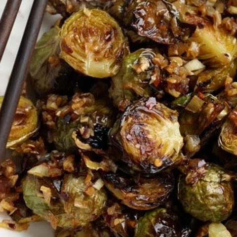 Brussels Sprouts with Spicy Lemongrass Sauce