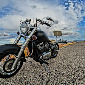 by Jordan Wangsgard - Transportation Motorcycles ( harley, hdr, chrome, street, bars, kawi, road, kawasaki, harleydavidson, sign, hog, seat, motorcycle, bobber, 2wheels, black, custom, automobile, automotive, car, photography, bike, exotic )